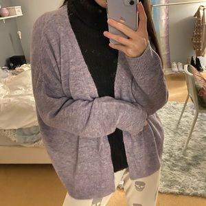 Cozy Lavender Purple Cardigan Sweater